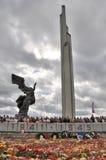 Jour de victoire, Lettonie Photographie stock libre de droits