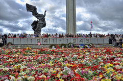Jour de victoire, Lettonie Photos libres de droits