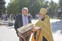 Jour de ville dans Luhansk Photographie stock