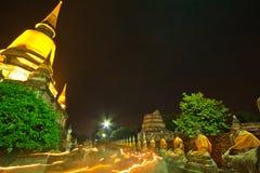 Jour de Visakha Bucha dans la religion de bouddhisme au temple Photographie stock