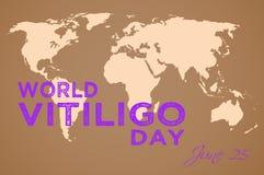 Jour de Vitiligo du monde Photo stock