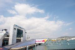 Jour de vol de Red Bull Flugtag Photos stock