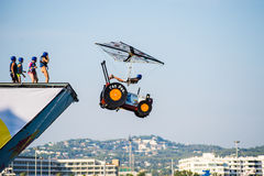 Jour de vol de Red Bull Flugtag Image libre de droits
