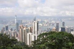 Jour de vue de ville de Hong Kong Photo libre de droits
