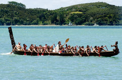 Jour de Waitangi et festival - HOL de public de la Nouvelle Zélande images libres de droits