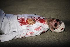 Jour de zombi de la marche complètement Image libre de droits