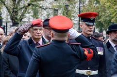 Jour des anciens combattants à Londres Images libres de droits