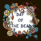 Jour des morts Festival traditionnel mexicain Dia de Los Muertos illustration libre de droits