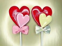 Jour doux du ` s de valentine d'amour de lucettes de coeur Image libre de droits