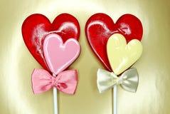 Jour doux du ` s de valentine d'amour de lucettes de coeur Photographie stock libre de droits