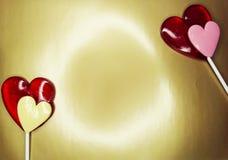 Jour doux du ` s de valentine d'amour de lucettes de coeur Photographie stock