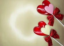 Jour doux du ` s de valentine d'amour de lucettes de coeur Images stock
