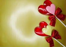 Jour doux du ` s de valentine d'amour de lucettes de coeur Images libres de droits