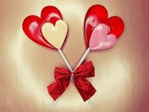 Jour doux du ` s de valentine d'amour de lucettes de coeur Photo libre de droits