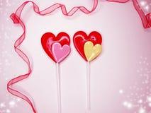 Jour doux du ` s de valentine d'amour de lucettes de coeur Photos libres de droits
