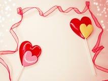 Jour doux du ` s de valentine d'amour de lucettes de coeur Photo stock