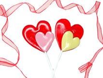 Jour doux du ` s de valentine d'amour de lucettes de coeur Photos stock