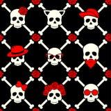 Jour du crâne élégant avec l'ornement et floral morts et colorés illustration stock