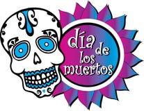 Jour du graphique coloré mort avec le crâne Photographie stock libre de droits