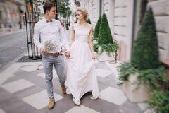 Jour du mariage à Budapest Photo stock