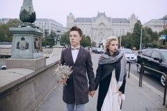 Jour du mariage à Budapest Images libres de droits