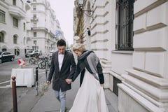 Jour du mariage à Budapest Images stock