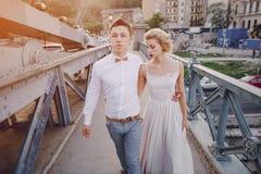 Jour du mariage à Budapest Image libre de droits