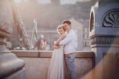 Jour du mariage à Budapest Photographie stock libre de droits