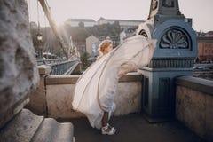 Jour du mariage à Budapest Photos libres de droits