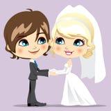 Jour du mariage doux Photographie stock