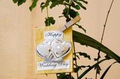 Jour du mariage heureux Photo libre de droits