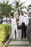 Jour du mariage du ` s de couples d'afro-américain Images stock