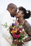 Jour du mariage du ` s de couples d'afro-américain Photo libre de droits