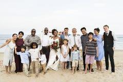 Jour du mariage du ` s de couples d'afro-américain Photos libres de droits