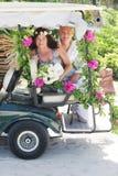 Jour du mariage sur la plage Images libres de droits