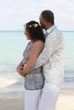 Jour du mariage sur la plage Image stock