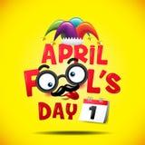 Jour du ` s d'imbécile d'avril, typographie, colorée, illustration de vecteur Images libres de droits