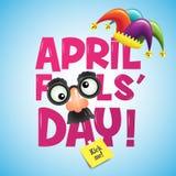 Jour du ` s d'imbécile d'avril, typographie, illustration de vecteur, colorée, Ca Images libres de droits