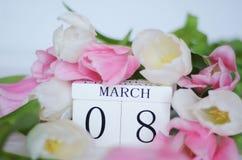 Jour du ` s de femmes, le 8 mars Images libres de droits