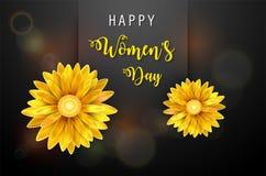 Jour du ` s de femmes, le 8 mars Jour heureux du `s de mère photo stock
