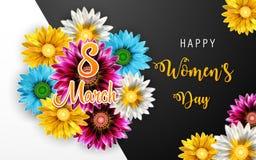 Jour du ` s de femmes, le 8 mars Jour heureux du `s de mère images stock