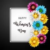 Jour du ` s de femmes, le 8 mars Jour heureux du `s de mère photographie stock