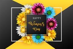 Jour du ` s de femmes, le 8 mars Jour heureux du `s de mère photo libre de droits
