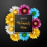 Jour du ` s de femmes, le 8 mars Jour heureux du `s de mère photos stock