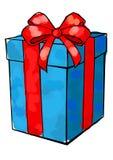 Jour du ` s de Noël et de nouvelle année, fond de blanc de boîte-cadeau Photo libre de droits