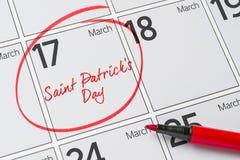 Jour du ` s de St Patrick Images libres de droits