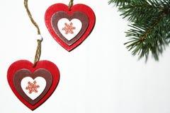 Jour du ` s de St Valentine, amour, Noël, nouvelle année Deux multi-colore Photo stock