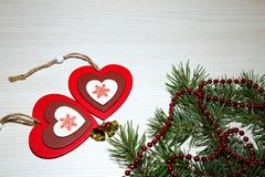 Jour du ` s de St Valentine, amour, Noël, nouvelle année Deux multicolores Photographie stock libre de droits