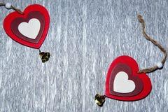 Jour du ` s de St Valentine, amour, Noël, nouvelle année Deux multicolores Photo libre de droits