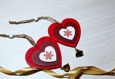 Jour du ` s de St Valentine, amour, Noël, nouvelle année Deux multicolores Photo stock